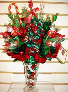 christmas candy bouquet 1