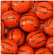 2016 NBA Finals Solid Chocolate Basketballs