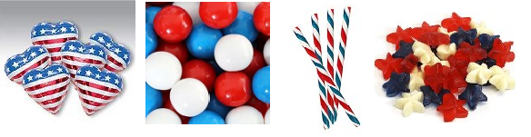 Patriotic Red, White, and Blue Candy