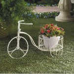 Wrought Iron Tricycle Planter