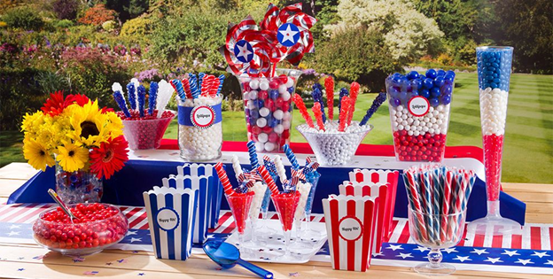 July 4th Candy Buffet Table