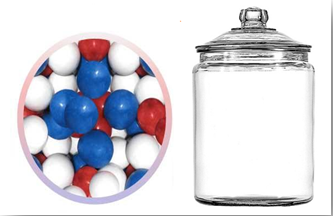 July 4th Gumball Candy Jars