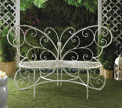 Butterfly Iron Bench