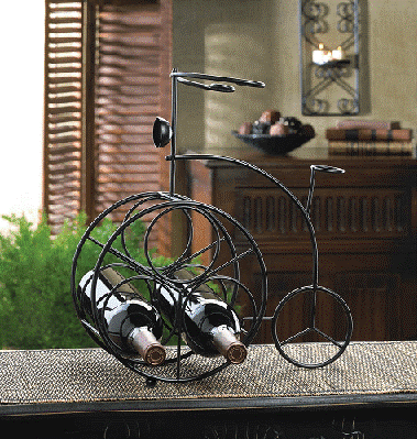 Wrought Iron Bicycle Wine Display