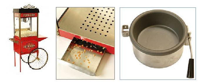 Popcorn Machine and parts