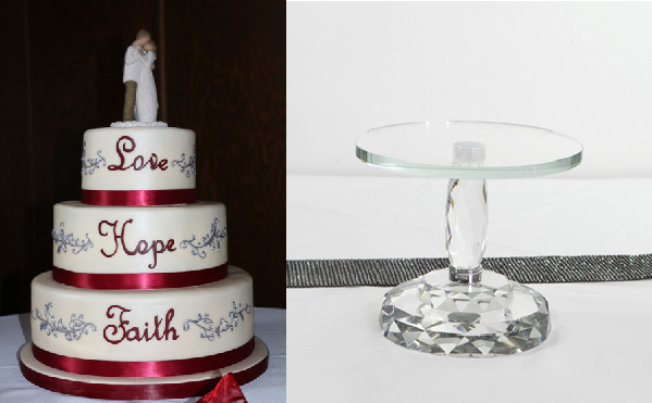 Winter Wedding Cake Stand