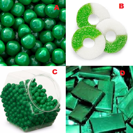 Green Christmas Candy