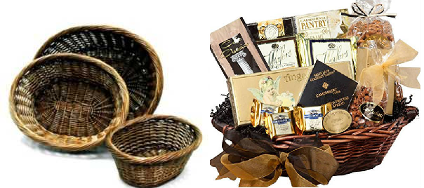 'Christmas Gift Basket Idea' from the web at 'http://blog.candyconceptsinc.com/wp-content/uploads/2016/12/Willow-Gift-Baskets.png'